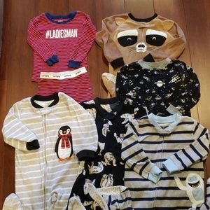 Toddler boy size 2T lot of Carter's pajamas